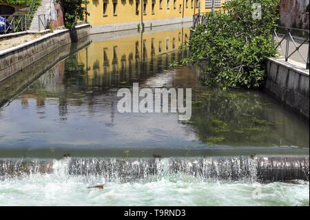 Milan (Italy), the Naviglio Martesana canal - Stock Photo