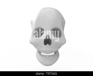 3D rendering of a skull isolated on white background. - Stock Photo