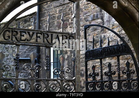 Greyfriars Kirkyard gates, Edinburgh - Stock Photo