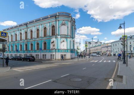 Moscow, Russia - May 4.2019. Myasnitskaya - an old street of the 17th century - Stock Photo