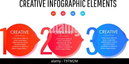 Creative infographic template. Set of minimal liquid gradient splashes - Stock Photo