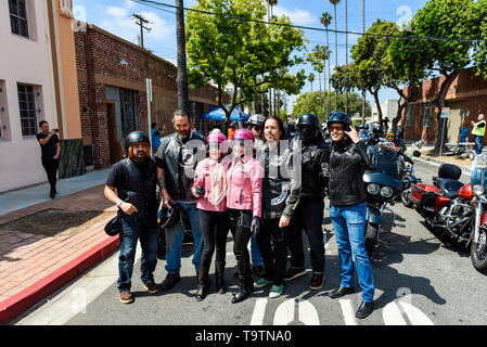 May 5, 2019, Glendale, California, Wendy Dio and friends at the 5th annual Ride for Ronnie charity motorcycle ride & concert - Stock Photo