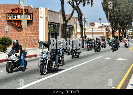 May 5, 2019, Glendale, California, Glendale Harley Davidson hosts the 5th annual Ride for Ronnie charity motorcycle ride & concert - Stock Photo