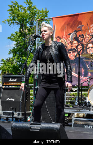 May 5, 2019, Encino, California, Sadie and the Tribe on stage at the 2019 Ride for Ronnie charity concert at Los Encinos State Park. - Stock Photo