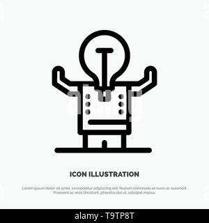 Business, Improvement, Man, Person, Potential Line Icon Vector - Stock Photo