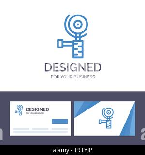 Creative Business Card and Logo template Construction, Grinder, Grinding Vector Illustration - Stock Photo