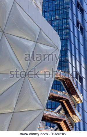 The Shed and the Vessel, Hudson Yards, New York, New York, USA. - Stock Photo