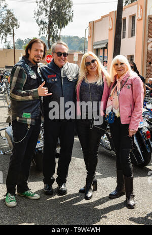 May 5, 2019, Glendale, California, Wendy Dio, Sean McNabb and friends at the 5th annual Ride for Ronnie charity motorcycle ride & concert - Stock Photo