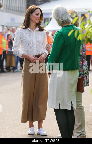 Royal Hospital Chelsea. West London, UK 20 May 2019 -  Duchess of Cambridge arrives at her 'Back to Nature' garden at the Chelsea Flower Show. Credit: Dinendra Haria/Alamy Live News - Stock Photo