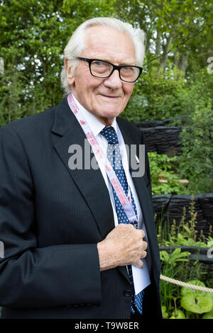 London, UK. 20 May 2019. Lord Heseltine. Press Day at the 2019 RHS Chelsea Flower Show. Photo: Bettina Strenske/Alamy Live News - Stock Photo