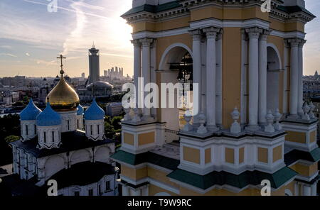 Moscow, Russia. 20th May, 2019. MOSCOW, RUSSIA - MAY 20, 2019: A view of the Novospassky Monastery. Sergei Bobylev/TASS Credit: ITAR-TASS News Agency/Alamy Live News - Stock Photo