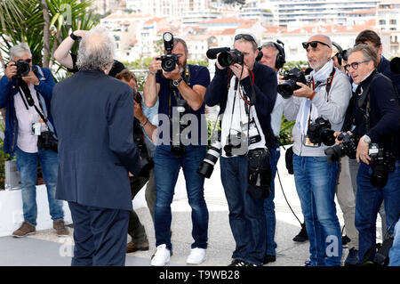 Cannes, France. 20th May, 2019. Abel Ferrara at the 'Tommaso' photocall during the 72nd Cannes Film Festival at the Palais des Festivals on May 20, 2019n Cannes, France Credit: Geisler-Fotopress GmbH/Alamy Live News - Stock Photo