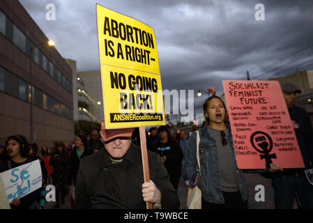 Los Angeles, CA, USA. 8th Mar, 2019. Activists seen holding placards during the International Women's Strike in Los Angeles.The rally coincided with International Women's Day which was first recognized by the United Nations in 1975. Credit: Ronen Tivony/SOPA Images/ZUMA Wire/Alamy Live News - Stock Photo