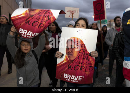 Los Angeles, CA, USA. 8th Mar, 2019. Activists are seen holding placards during the International Women's Strike in Los Angeles.The rally coincided with International Women's Day which was first recognized by the United Nations in 1975. Credit: Ronen Tivony/SOPA Images/ZUMA Wire/Alamy Live News - Stock Photo