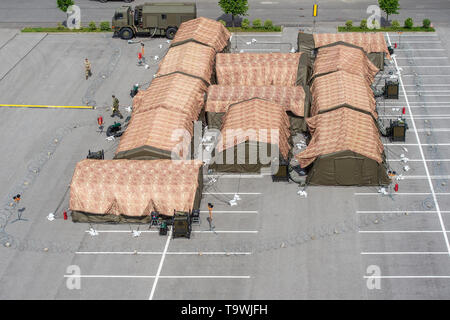 The international exercise of Allied Rapid Reaction Corps (ARRC) called Yellow Cross 2019 was held in Liberec, Czech Republic, on May 21, 2019. (CTK Photo/Radek Petrasek) - Stock Photo