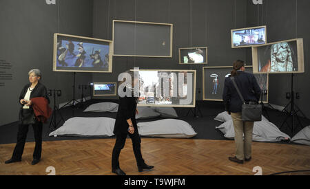 Brno, Czech Republic. 21st May, 2019. The 'Laterna magika: (De)construction and (Re)invention' exhibition was launched in Brno, Czech Republic, on May 21, 2019. Credit: Igor Zehl/CTK Photo/Alamy Live News - Stock Photo