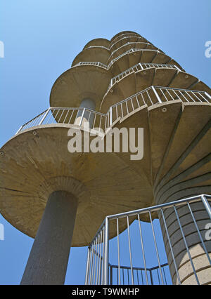 The Gonjace Observation Tower on Mejnik Hill in Primorska, Slovenia. Built in 1961, it is 23 metres high - Stock Photo