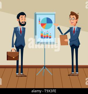businessmen with briefcase - Stock Photo