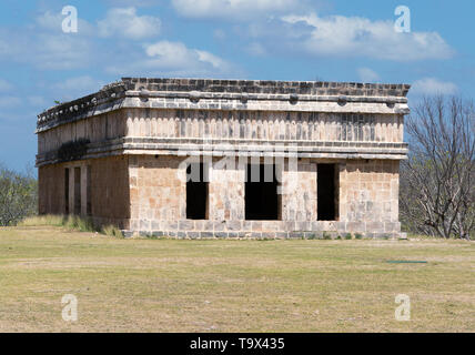 The House of the Turtles, mayan ruins at Uxmal UNESCO world heritage site, Uxmal, Yucatan Mexico Latin America - Stock Photo