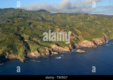 Aerial view of the North shore of  Maui, Hawaii, USA - Stock Photo