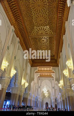 10 March 2019, Morocco, Casablanca:The Hassan II Mosque or Grande Mosqu?e Hassan II is a mosque in Casablanca, Morocco. It is the largest mosque in Af - Stock Photo