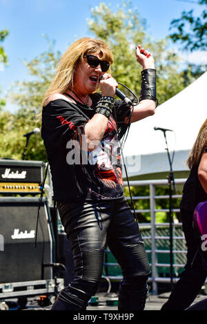 May 5, 2019, Encino, California, DIA a  female fronted Dio tribute band on stage at the 2019 Ride for Ronnie charity concert at Los Encinos State Hist - Stock Photo