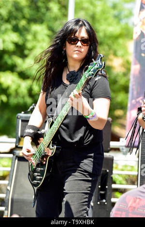 May 5, 2019, Encino, California, DIA an all female fronted band on stage at the 2019 Ride for Ronnie charity concert at Los Encinos State Historic Par - Stock Photo