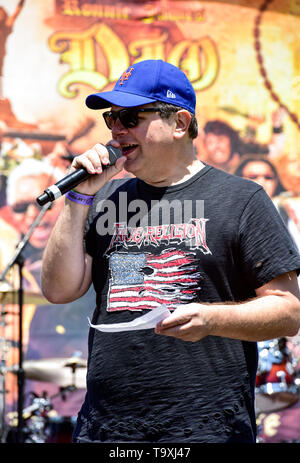 May 5, 2019, Encino, California, Eddie Trunk hosting the 2019 Ride for Ronnie charity concert at Los Encinos State Historic Park. - Stock Photo