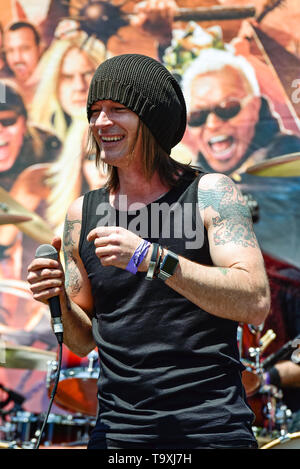 May 5, 2019, Encino, California, Patrick Stone lead vocals for Budderside at the 2019 Ride for Ronnie charity concert at Los Encinos State Park. - Stock Photo