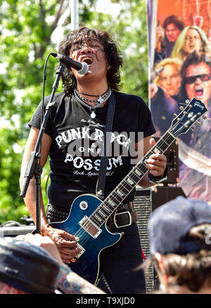 May 5, 2019, Encino, California, Marq Torien of the Bulletboys on stage at the 2019 Ride for Ronnie charity concert at Los Encinos State Historic Park - Stock Photo