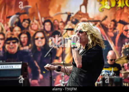 May 5, 2019, Encino, California, Eddie Trunk's Allstar Band at the 2019 Ride for Ronnie charity concert at Los Encinos State Park - Stock Photo