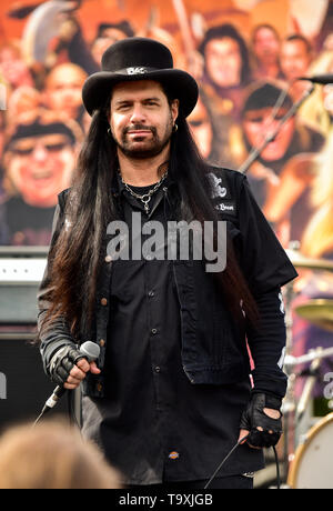 May 5, 2019, Encino, California, Neil Turbin at the 2019 Ride for Ronnie charity concert at Los Encinos State Historic Park. - Stock Photo