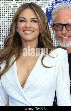 Elizabeth Hurley and Patrick Cox, Rocketman - UK Premiere, Leicester Square, London, UK, 20 May 2019, Photo by Richard Goldschmidt - Stock Photo