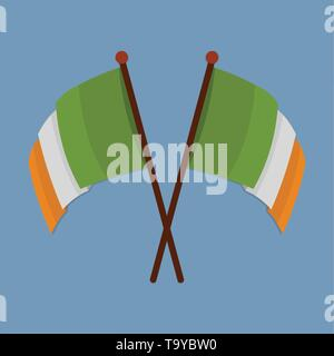 two ireland flags vector symbol illustration - Stock Photo