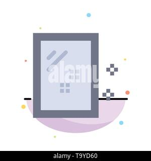 Door, Mirror, Cleaning, Wash Abstract Flat Color Icon Template - Stock Photo