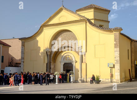 People gather at the Santa Sofia church for a wedding. Being UNESCO World heritage, this church is an exceptional location to get maried. - Stock Photo