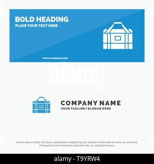Bag, Equipment, Gym, Sports SOlid Icon Website Banner and Business Logo Template - Stock Photo