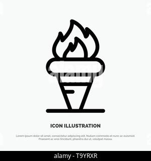 Flame, Games, Greece, Holding, Olympic Line Icon Vector - Stock Photo