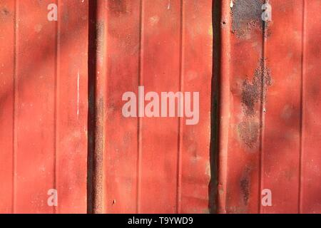 Detailed close up surface of rusty metal and steel with lots of corrosion in high resolution - Stock Photo