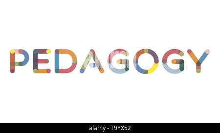 Pedagogy word concept. PEDAGOGY written on the chalkboard. Use for cover, banner, blog. - Stock Photo