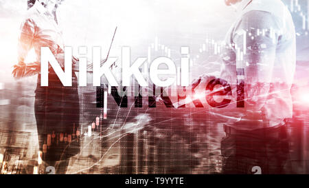 The Nikkei 225 Stock Average Index. Financial Business Economic concept. - Stock Photo