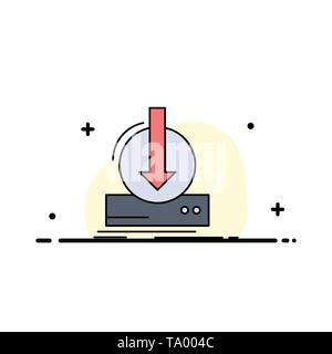 Addition, content, dlc, download, game Flat Color Icon