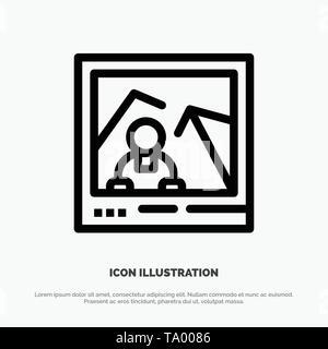 Picture, Image, Landmark, Photo Vector Line Icon - Stock Photo
