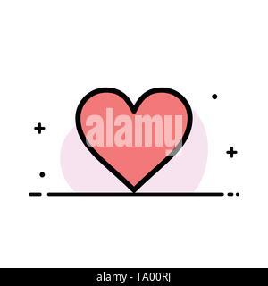 Heart, Love, Like, Twitter Line Icon Vector Stock Vector Art