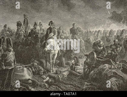 Napoleon at the Battle of Waterloo,18 June 1815 - Stock Photo