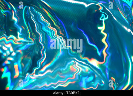 Holographic iridescent abstract blurred surface. Holographic gradient. - Stock Photo