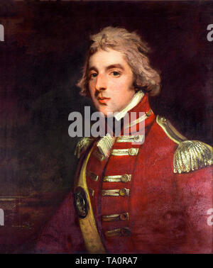 John Hoppner, Lieutenant Colonel Arthur Wellesley, aged 26, in the 33rd Regiment, portrait painting, c. 1795 - Stock Photo