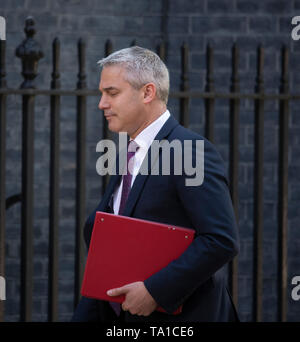 Downing Street, London, UK. 21st May 2019. Stephen Barclay, Secretary of State for Exiting the European Union, Brexit Secretary in Downing Street for weekly cabinet meeting. Credit: Malcolm Park/Alamy Live News. - Stock Photo