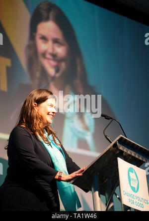 Karina Walker Brexit Party candidate in European Elections 2019 speaks at meeting in Edinburgh on 17 May 2019, Scotland, UK - Stock Photo