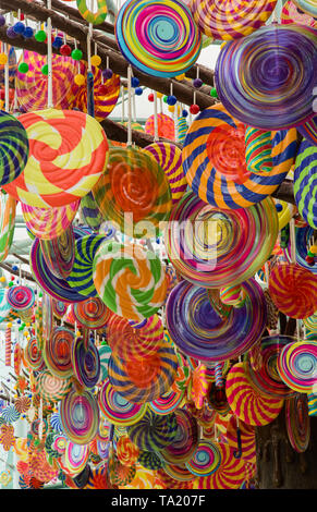 colorful Lollipop tree balloon closeup view - Stock Photo